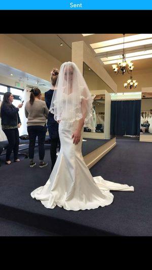 Wedding dress and veil for Sale in Salt Lake City, UT