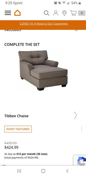 Gray Couch Set from Ashley Furniture! for Sale in Herndon, VA