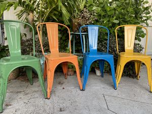 Outdoor Chairs stainless steel for Sale in Miami, FL