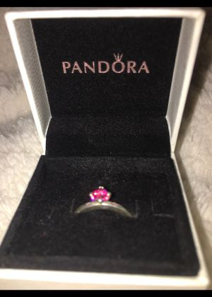 Ruby heart Pandora ring for Sale in New Market, MD