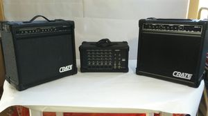 Crate G40XL Amplifier With Crate GX-65 & Crate PA6 for Sale in Edgerton, MO