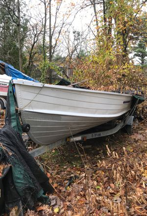 Aluminum boat with trailer, no motor for Sale in Chepachet, RI