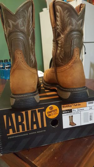 Steel toe work boots. for Sale in Forest, MS