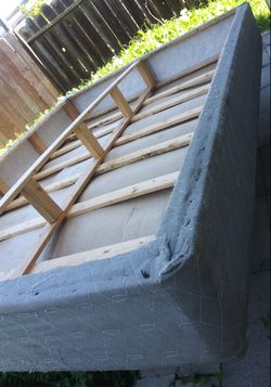 USED QUEEN BOX SPRING NEEDS CLEANING.....IF THIS POST IS UP IT IS STILL FOR SALE for Sale in San Leandro,  CA
