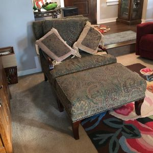 Wood Mark Chair and Ottoman for Sale in Portland, OR