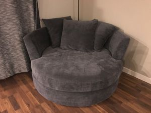 Big Accent Chair Grey for Sale in Hillsboro, OR