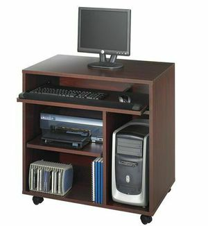 BRAND NE W Safco 1901mh Mahogany Ready-to-use Computer Workstation for Sale in Columbus, OH
