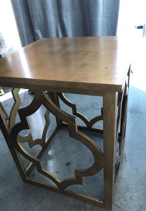2 matching gold Moroccan design end tables for Sale in Miami, FL