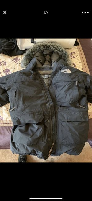 THE NORTH FACE BLACK McMURDO GOOSE DOWN HYVENT PARKA JACKET NAVY BLUE SIZE LARGE for Sale in Inglewood, CA