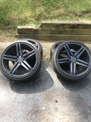 VERDE SPRY 20x9 SATIN BLACK RIMS AND DELINTE THUNDER TIRES for Sale in Stone Mountain, GA