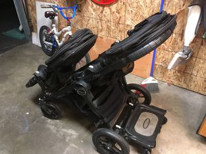 Baby jogger city select double stroller with glider board for Sale in Downey, CA