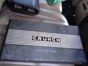 Crunch PZA1500.1 Power Zone 1500W Monoblock Class Ab 1 Channel Car Amplifier for Sale in Terrell, TX