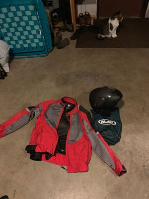 Motorcycle Helmet and Coat for Sale in Enumclaw, WA
