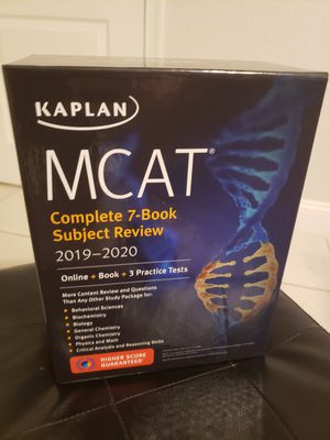 KAPLAN MCAT Prep books 7-subject Review for Sale in Miami, FL