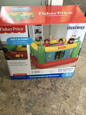 Fisher Price Bouncesational Bouncer Bestway Bounce House with Built-In Pump for Sale in French Creek, WV