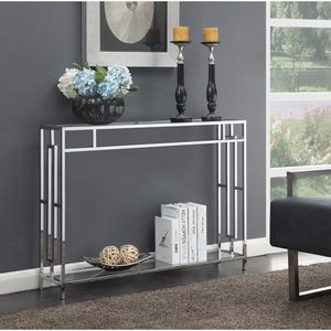 clear glass console table for Sale in Sugar Land, TX