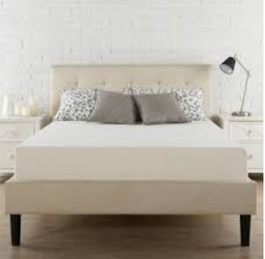 QUEEN UPHOLSTERED PLATFORM BED Brand new in Box $200 Queen Cool Gel Infused MEMORY FOAM MATTRESS Brand new in Box $150 for Sale in Columbus, OH