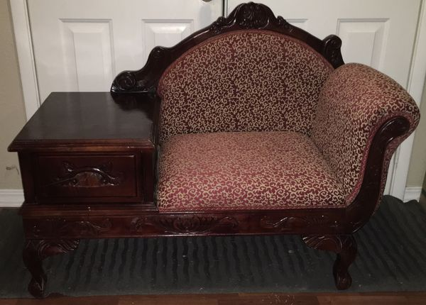 RARE ANTIQUE FRENCH-STYLE TÉLÉCHAISE (Combination Table, Drawer & Chair)