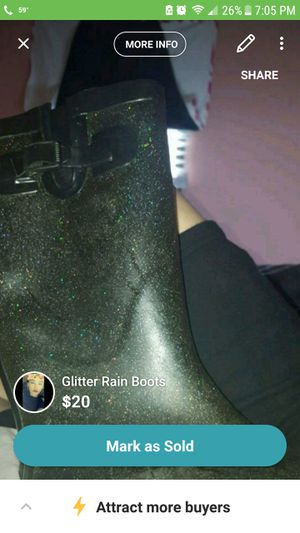 Glitter rain boots for Sale in Virginia Beach, VA