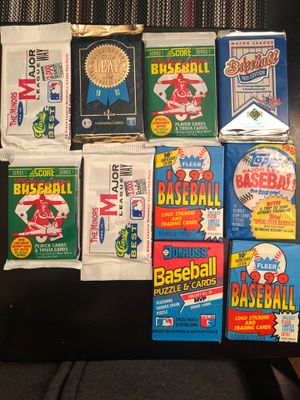 10 unopened packs late 80s early 90s baseball cards for Sale in McDonald, PA