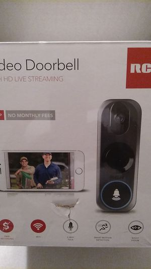 RCA Video Doorbell Camera with HD Live Streaming - 2-Way Talk and Wi-Fi HSDB2A for Sale in Tolleson, AZ