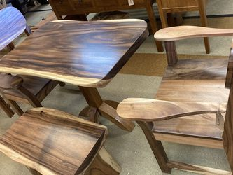 4 pc Suar Wood Dining Set (New) for Sale in Gig Harbor,  WA