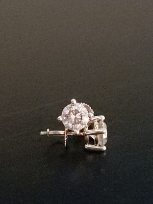 2.12 cts Diamond Stud Earrings for Sale in Keizer, OR