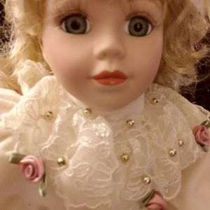 Vintage {Rose} Porcelain Doll for Sale in Lexington, SC