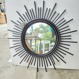 Brand New Bamboo Mirror 26 Inches Across for Sale in Fontana, CA