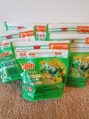 5 Gain flings laundry detergent- $20 price firm for Sale in Rockville, MD