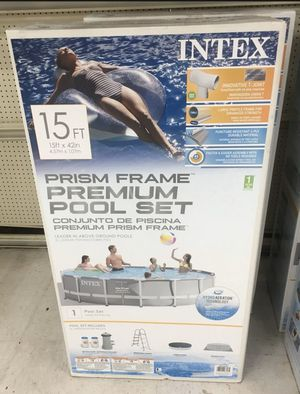 "Intex 15' x 48"" Prism Frame Pool for Sale in Fairfax, VA"