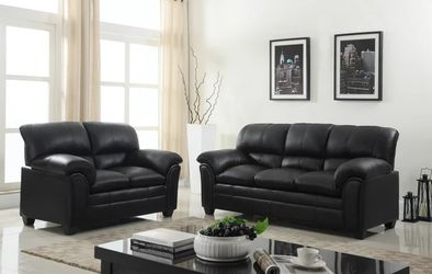 Halo Black Sofa & Loveseat | U5192 by Global 🚛🚚SAME DAY DELIVERY for Sale in Greenbelt,  MD