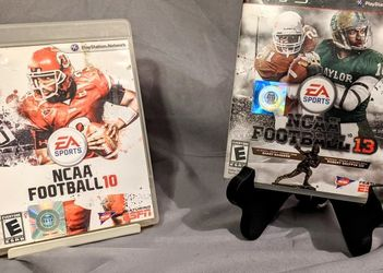 NCAA Football 10 & 13 - PS3 Games - Complete In Box for Sale in San Antonio,  TX