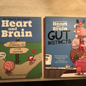Brain and Heart Comic Books by The Awkward Yeti for Sale in Paso Robles, CA