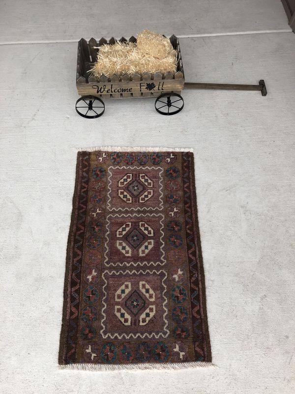"Vintage Oushak Rug , Small Runner Rug ,Turkish Oriental Rug , Rustic Door Mat Rug , Antique Rug , Mini Rug , Turkish Runner Rug 2'10"" x 1'9"""