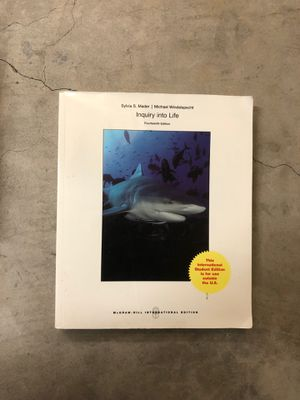 Inquiry into Life 14th edition by Sylvia S. Mader and Michael Windelspecht for Sale in Orange, CA