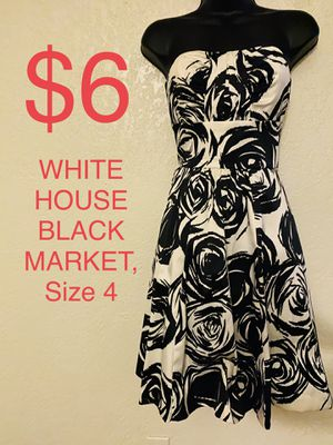 WHITE HOUSE | BLACK MARKET, White & Black Floral Dress, Size 4 for Sale in Phoenix, AZ