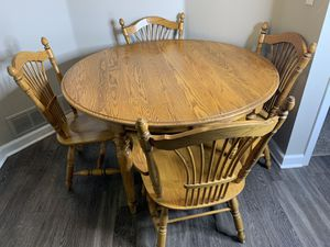 7-Piece Wood Table and Chairs for Sale in Centennial, CO