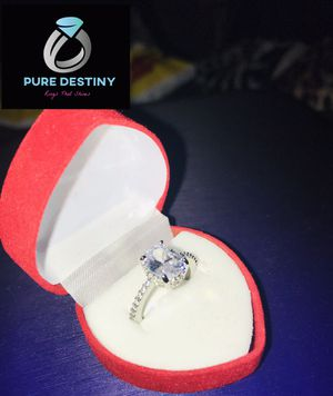 Sterling Silver Oval Cut Engagement Ring for Sale in Biloxi, MS