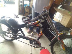 Schwinn Stingray Chopper Motorcycle Style Bike Black Frame Orange Flames Bicycle for Sale in Portland, OR