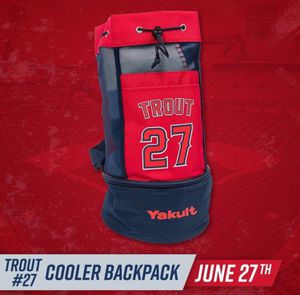 Angels Mike Trout #27 Cooler backpack 🎒 for Sale in Riverside, CA
