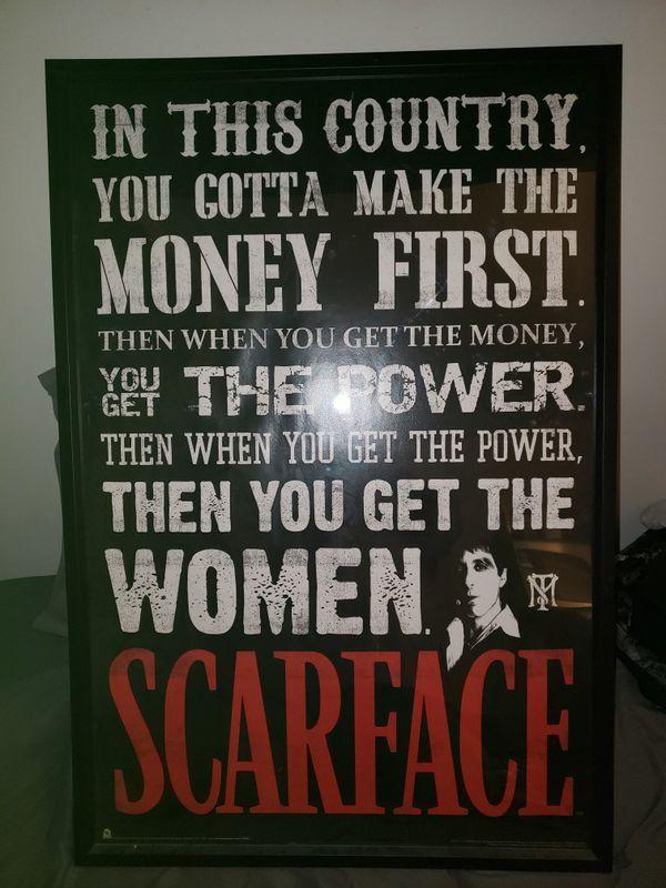 Scarface framed art