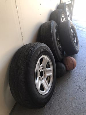 5 tires and rims 4 off them 225/75/16 and one 205/65/16 for Sale in Chicago, IL