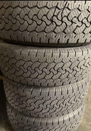 BF Goodrich LT245/75/17 90% life $220 tires only or $320 with rims for Sale in Bloomington, CA