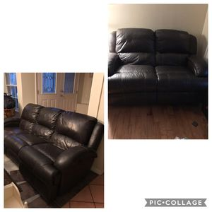 Leather Sofa & Loveseat with 4 electric recliners for Sale in Tampa, FL