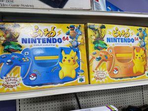 Nintendo 64 Pokemon Pikachu console complete excellent shape for Sale in Hamtramck, MI