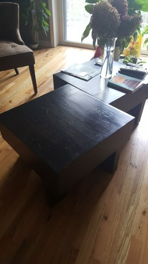 Solid wood Nadeau handmade coffee tables (Set of 2) for Sale in Chicago, IL