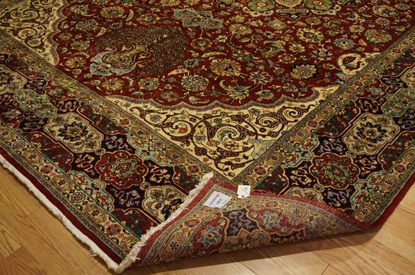 Large One of A Kind signed Persian Tabriz rug 10'x 15'