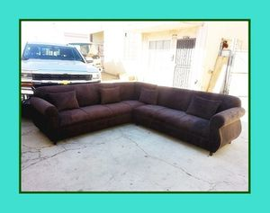 """new 9x9 ft """"Dark brown microfiber"""" sectional couches for Sale in Los Angeles, CA"""