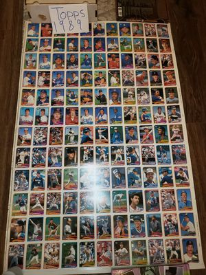 Baseball Cards UNCUT SHEETS (5) TOTAL 1989 & 1992 for Sale in Bayonne, NJ